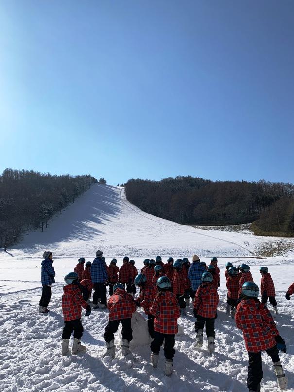 スキー学校 長野県上田市 菅平高原にて